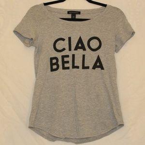 Banana Republic 'Ciao Bella' Graphic Grey T-shirt